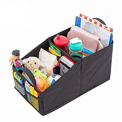 Kuyoly Caja de almacenamiento de coche multifuncional organizador de asiento de coche para asiento delantero o trasero plegable coche caja accesorios auto