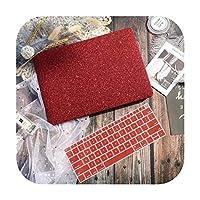 マーブルフラワーパターンラップトップケースキーボードカバー新しいfor MacBook Air 13 2018 2019 Pro 13.3 15インチRetinaタッチバーA2159 A1932-Red-New Air 13 A1932