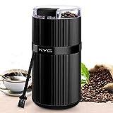 KYG Molinillo de Especias y Café Eléctrico 160W con Cuchilla de Acero Inoxidable Tritura para Granos de Café Semillas Especias y Nueces
