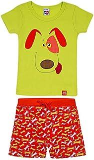 Pijama Curto, Tiptop, Verde, 3-4