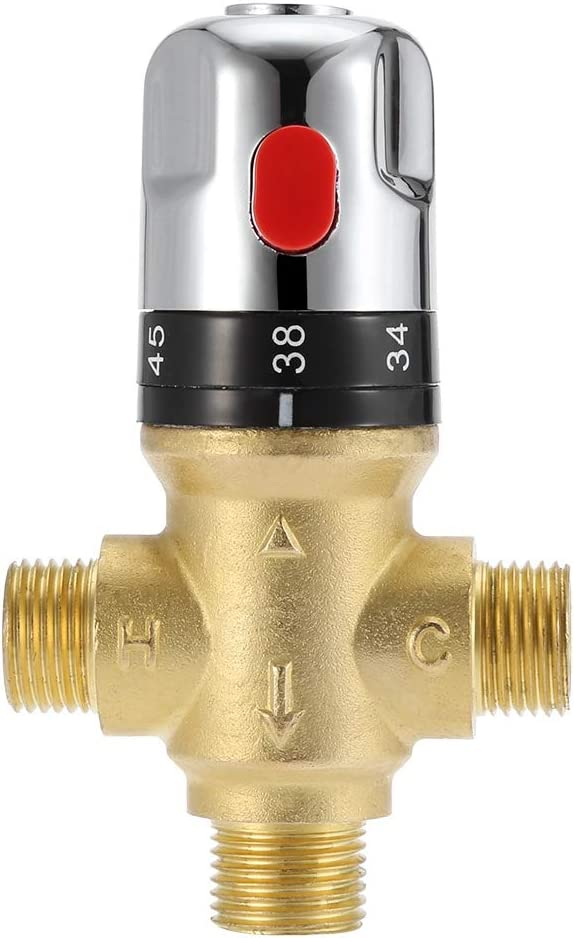 Thermostatic Shower Faucet Valve G1 Mixing 2 Brass Water Raleigh Mall security
