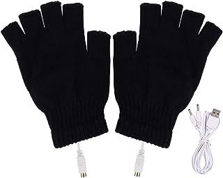 手袋 USB接続で加熱 あったか手袋 USBヒーター内蔵 快速加熱 洗えるUSBヒーター手袋 パソコン 作業 PC 冬 防寒対策 指先 温かい 男女兼用 ブラック