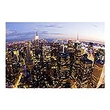 Bilderwelten Fotomural - New York skyline at night - Mural apaisado papel pintado fotomurales murales pared papel para pared foto 3D mural pared barato decorativo, Dimensión Alto x Ancho: 290cm x 432cm