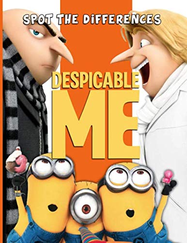 Despicable Me Spot The Difference: Exclusive Activity How Many Differences Books For Adults