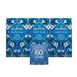 Pukka Herbs Night Time, Organic Herbal Tea With Valerian (3 Pack, 60 Tea Bags) Packaging may vary