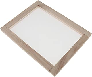 20x20cm CUTICATE Wood Paper Making Frame Papermaking Mold Rectangular Mould Frame with Semitransparent Mesh for DIY Crafts
