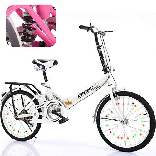 JooGoo Leicht Mini Faltrad, 20 Zoll Klapprad, Aluminium-Faltrad-Klapprad, Faltfahrrad-Herren-Damen,Stoßdämpfung Geschwindigkeit Shimano Klappfahrrad Folding Bike, Folding City Bike, Alu-Rahmen