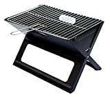 Notebook <span class='highlight'>Folding</span> Grill - Portable Picnic BBQ with Chrome Plated Cooking Grid (Black)