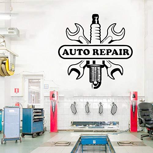 Pegatinas de pared de reparación de coches divertidas, pegatinas de taller de reparación de automóviles, pegatinas de pared, pegatinas de pared autoadhesivas A2 57x57cm