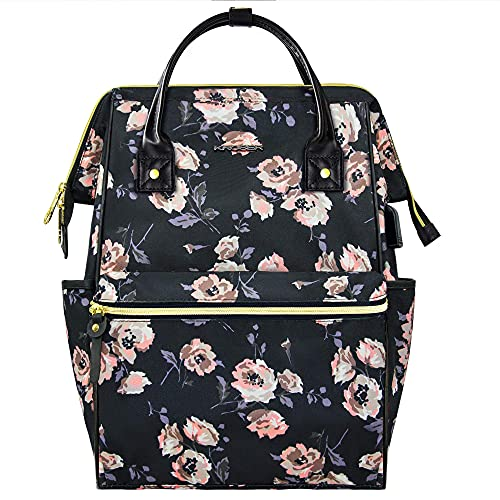 HMMHHE Viajes portátil mochila portátil mochila 15.6 pulgadas elegante escuela computadora mochila mochila médico bolso de agua repelente universitario casual Daypack con USB Bolsa de trabajo de negoc