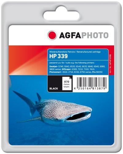 AgfaPhoto Tintenpatrone schwarz kompatibel zu HP339 (C8767EE) geeignet für HP Deskjet 5740/6520/6540