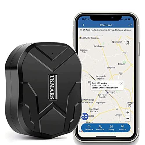 GPS Tracker,Traker GPS Auto Antifurto Forte Magnetismo GPS Tracker GPS A-GPS LBS Localizzatore 150 giorni Standby 10000 mAh Batterie IP65 Impermeabile Anti-perso Antifurto con APP per Smartphone