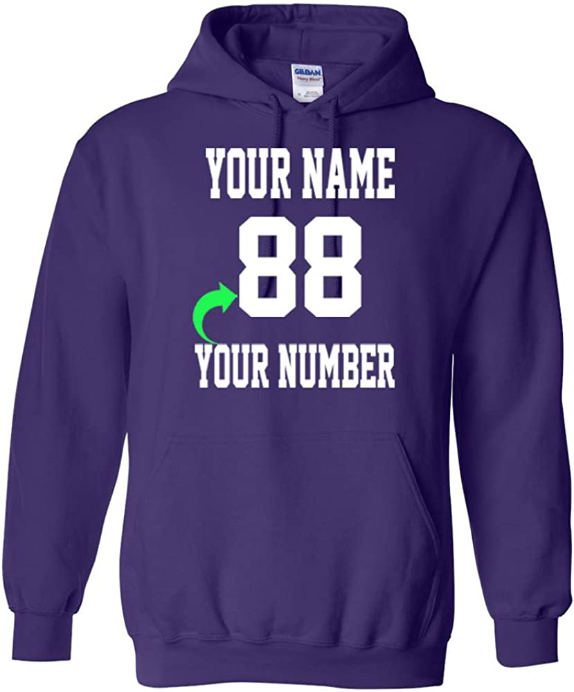 Personalized Hoodie with Custom Name and Number Unique Stylish T