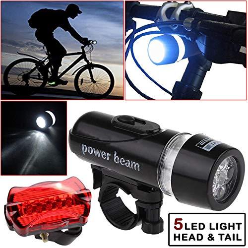 Safekom Bike Bicycle Lights Waterproof Bright 5...