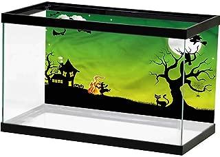 SLLART Underwater World Backdrop Halloween,Dancing Witch Water Plants & Coral Reef Poster
