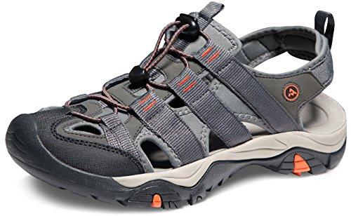 ATIKA - Sandalias deportivas para hombre, 3 capas, M108/M107/M106, Men 8 D(M), B-M107-GRO