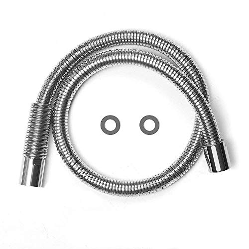 """MSTJRY 38"""" Flexible Stainless Steel Hose Replacement Kit for All Brand Commercial Pre-Rinse Kitchen Faucet (Long Type)"""
