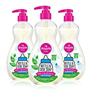 Dapple Baby Bottle and Dish Soap, Liquid, Plant Based, Hypoallergenic, 1 Pump Included, 17.75 Fl Oz, (Pack of 3), Fragrance Free, 53.25 Oz