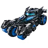 Pull Back Cars Toys, Pull Back Vehicles Motorcycle Launcher Toy Die-cast 3 in 1 Catapult Race Trinity Chariot (Black)