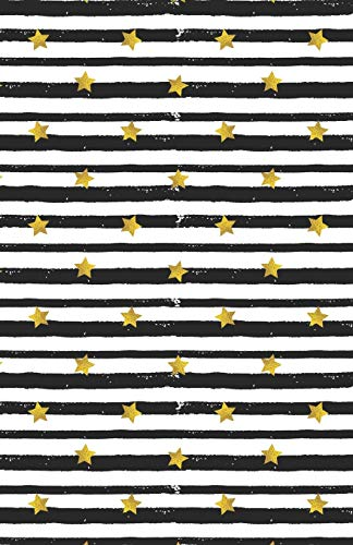 Lined Notebook A5 Size 110 Pages: Funny Ruled Journal. Cute Golden Star Butterfly Black Stripe 047 Unique Student Teacher Blank Scrapbook/ Composition/ Planner Great For Home School Office Writing