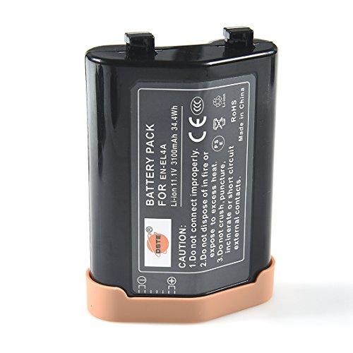 DSTE EN-EL4A Li-Ionen Akku für Nikon EN-EL4, EN-EL4A, D2, D2H, D2Hs, D2X, D2Xs, D3, D3S, D3X, F6 Kameras, MB-D10 Battery Grip Battery Grip