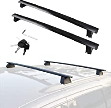 Roof Rack Cross Bars fits Seat Toledo 2006-2016 with Guttless Roof