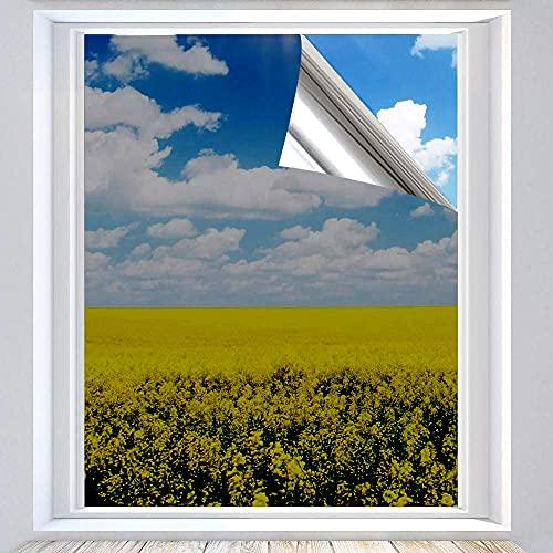 Xtracare Spiegelfolie Selbstklebend Fensterfolie Innen Sonnenschutzfolie für Wärmeisolierung, 99% UV-Schutz und Sichtschutz (Silber, 90 x 200 cm)