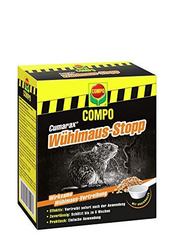 Compo Cumarax Wühlmaus-Stopp, Anwendungsfertiges Vertreibungs- und Fernhaltemittel gegen Wühlmäuse, Granulat, 200 g