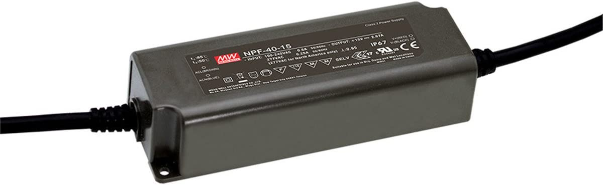 [PowerNex] Mean Well NPF-40-24 24V 1.67A 40W Single Output Switching with PFC LED Power Supply