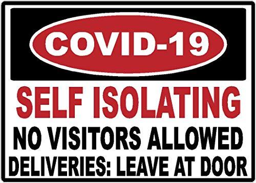 Safety | OSHA | Covid-19 | Self Isolating | Coronavirus | Warning | Decal | Sticker | Made in Texas USA | 3.5 x 5