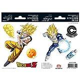 ABYstyle Pegatinas de Bola de dragón, 16 x 11 cm, Goku y Vegeta