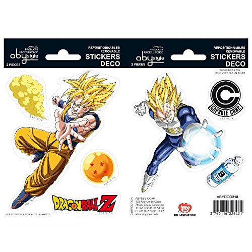 ABYstyle - DRAGON BALL - Stickers - Goku / Vegeta - 16x11cm