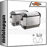 kappa maletas laterales kms36apack2 k'mission 36 lt + portamaletas laterales monokey compatible con bmw f 650 gs 2002 02