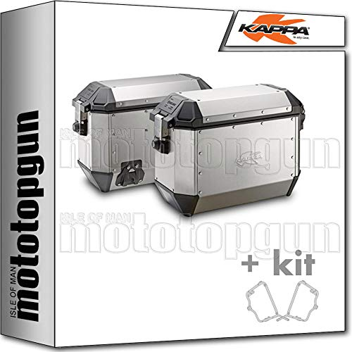 kappa maletas laterales kms36apack2 k'mission 36 lt + portamaletas laterales monokey compatible con bmw f 650 gs 2006 06