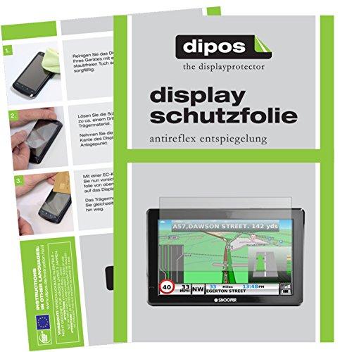 dipos I 3X Schutzfolie matt kompatibel mit Snooper Truckmate S8000 Folie Displayschutzfolie