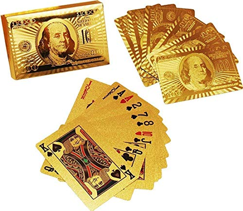 SillyMe Gold Plated Playing Cards - Poker Cards, 3 Patti Table Games