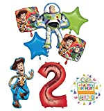 Mayflower Toy Story Party Supplies Woody, Buzz Lightyear and Friends 2nd Birthday Balloon Bouquet Decorations