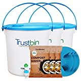 Material:Plastic, Color:White Package Contents:3-Piece Trustbin Includes compost bin, bokashi compost maker, detailed instruction manual No foul smell Convert waste to compost in 4 to 6 weeks