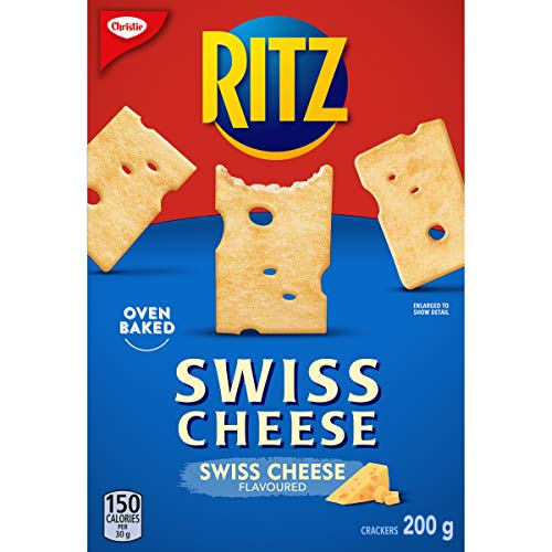 Christie RITZ SWISS CHEESE Flavoured Crackers, 200g/7.1oz., {Imported from Canada}