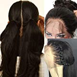 Pre Plucked Full Lace Human Hair Wigs for Black Women Straight Glueless Lace Front Wigs with Baby Hair (12 inch full lace wig 130 density)