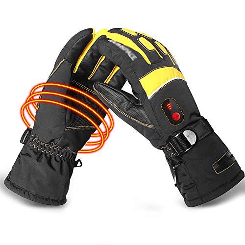 WXLSQ Los Guantes calefactables Profesional, eléctrico Recargable Handwarmer batería Hombres Mujeres esquí...