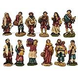 Joy Christmas Pastori in Resina 9 cm per Presepe Set da 12 Pezzi - 48205