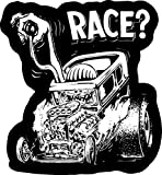 Race Old School Rat Fink Rat Rod Hot Rod Muscle Car Vintage Performance Sticker Stickers Decal