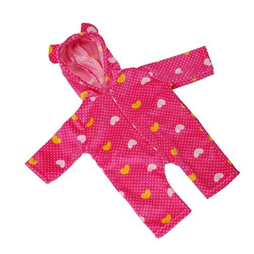 perfeclan Muñeca de Bebé Recién Nacido de 18 Pulgadas, Trajes Casuales, Mamelucos de Pijama con Estampado de Puntos, Mono, Ropa para Muñeca Americana, Accesorio