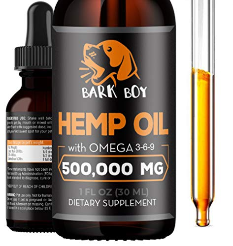 Hemp Oil for Dogs and Cats - Made in USA - Omega 3, 6, & 9- 100% Organic - Calming drops (1 Pack)