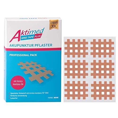 Aktimed GRID TAPE PLUS Professional Pack - 2in1:Gitterpflaster mit integrierten pflanzlichen Extrakten Arnica D6 - Tapen von Schmerz-, Akupunktur- und Triggerpunkten - Designed in Deutschland…