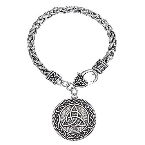 EUEAVAN Celtic Knot Triquetra Trinity Talisman Amulet Runes Pendant Bracelet
