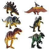 FOGAWA 6Pz Juguete Dinosaurio de Plástico para 3 Años Dinosaurios Jurassic World con Indominus Rex Juguetes de Figuras de Dinosaurios Realistas para Niños Educación Infantil Regalo de Cumpleaños
