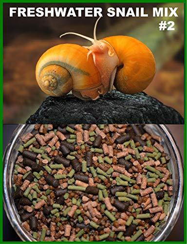 AQUATICBLENDEDFOODS Super Freshwater Snail Mix #2 - Snail,Shrimp,Fish & Crayfish Food (2oz)- ABF2
