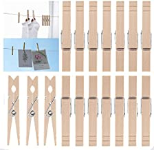 Clothes Pins Wood for Hanging Clothes,3.5 Inch?100pcs? Heavy Duty Wooden Clothespins,Clothes Pins for Craft,Wooden Clips for Pictures. | Rust Resistant